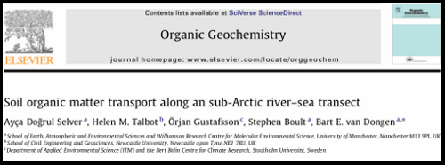Paper - Soil organic matter transport along an sub-Arctic river–sea transect