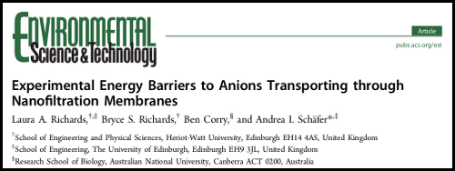 Paper - Experimental energy barriers to anions transporting through nanofiltration  					membranes